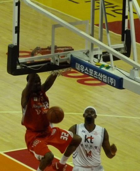 Slam dunk from Aaron Haynes.