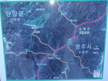 Sobaeksan map