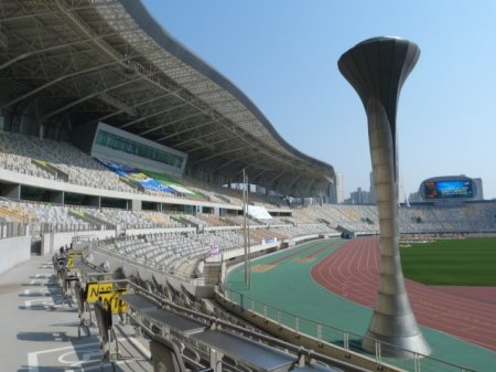 The real Hwaseong stadium.