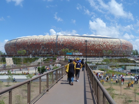 The FNB Stadium.