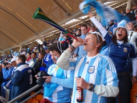 Argentina fans in 2010.