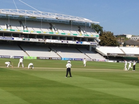 Trescothick on strike.