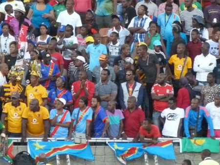 The DR Congo fans.