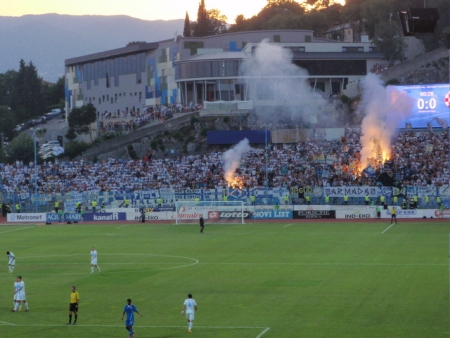 Rijeka fans and their flares.