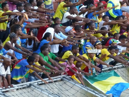The Gabon fans.