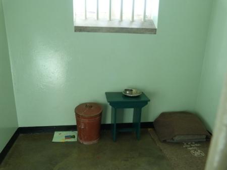 Nelson Mandela's cell.