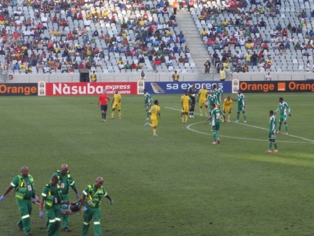 A goal up, it was Nigeria's turn to waste some time.