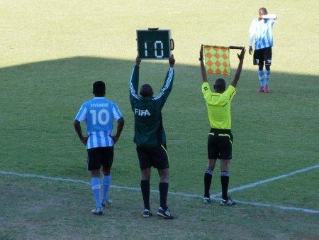Maradona makes his appearance.