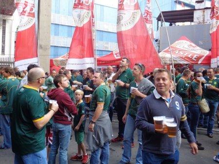 Pre-match pints.