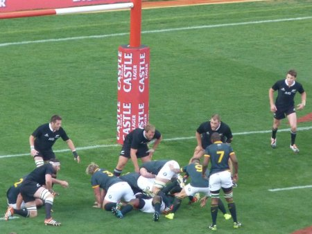 South Africa on the attack.