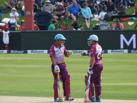 Davids and Elgar celebrate a shedload of runs.