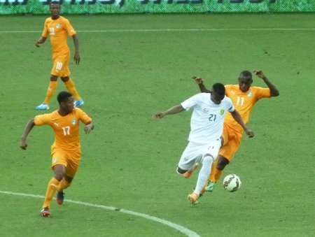 South Africa were in the white kit.