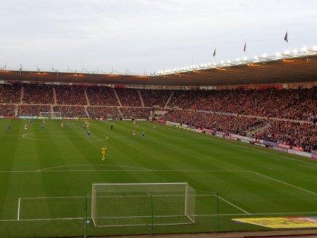 A full stadium.