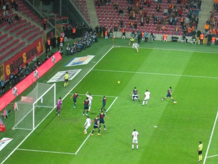 Galatasaray on the attack.