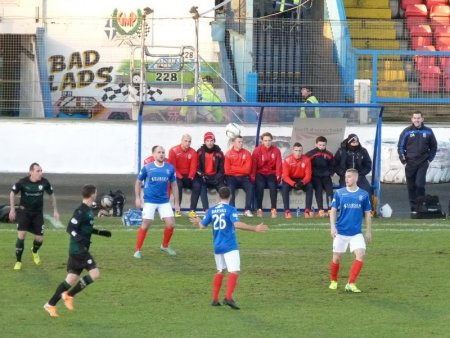 Cowdenbeath were in blue.