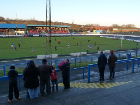 View from the terracing.